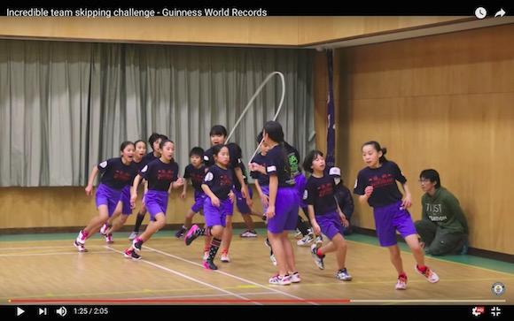 【ギネス】日本の小学生が樹立した世界記録「高速縄跳び」がもはや芸術とも言える神業