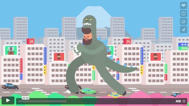 """外国人アニメーション監督が作ったGIFアニメ """"東京で過ごした30日"""" が何度も見返すほど面白い!"""