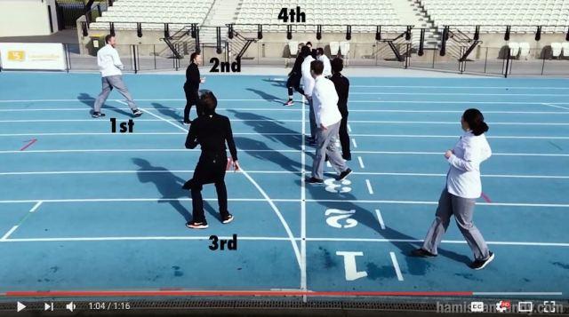 """【ナイスアイデア】1位ではなく """"5位"""" を目指す100メートル走が地味に面白い!"""