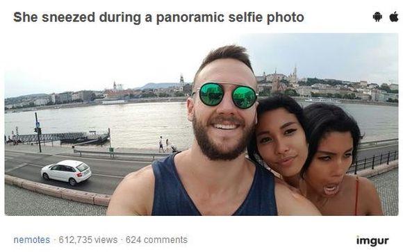 【奇跡の一枚】「自撮り中にクシャミをしたら超常現象が起こった」って写真