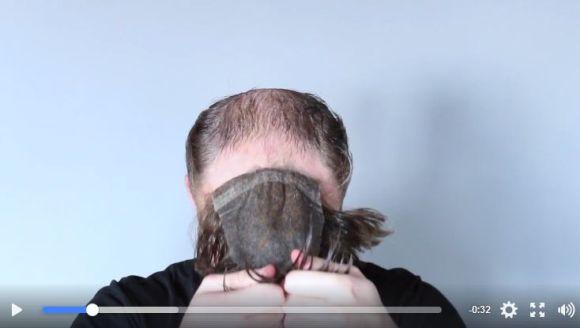 新感覚の男性用カツラがスゴイ! 自然な仕上がり&ヤバい激変ぶり!! 頭皮に貼り付ける防水タイプだぞ