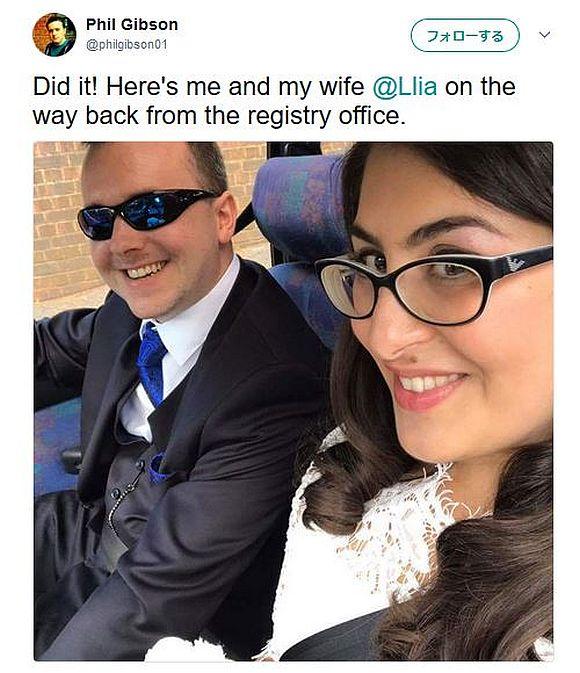 Twitterで「結婚式に同伴してくれる男性はいませんか?」と冗談で呼びかけた女性 → 名乗りを上げた男性と3年後に結婚!