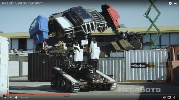 人が乗って操作する「巨大ロボット」の戦闘シーンがついにお披露目 / 映画やゲームの世界が現実に!