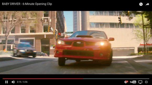 驚異のドライブテクを見よ! スバル・インプレッサで爆走する映画『ベイビー・ドライバー』のオープニング動画がマジすげぇ!!