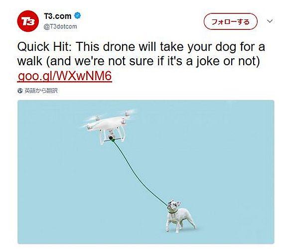 【マジかよ】犬の散歩をしてくれるドローンが爆誕!?