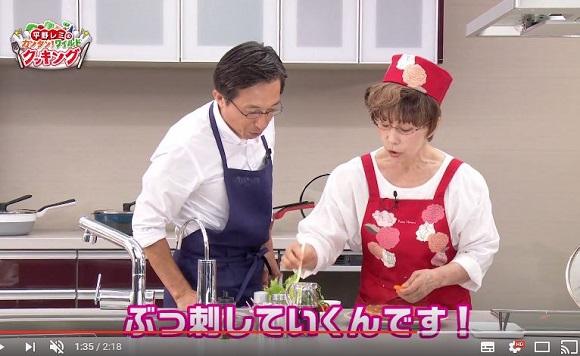 【放送事故】平野レミさん、ハンバーグに生野菜をブッ刺した上に金粉をふりかけてしまう
