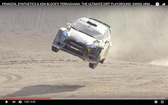ドリフト神「ケン・ブロック」が砂漠を爆走! 少しのミスも許されないコースを走る新作が完全に狂気!!