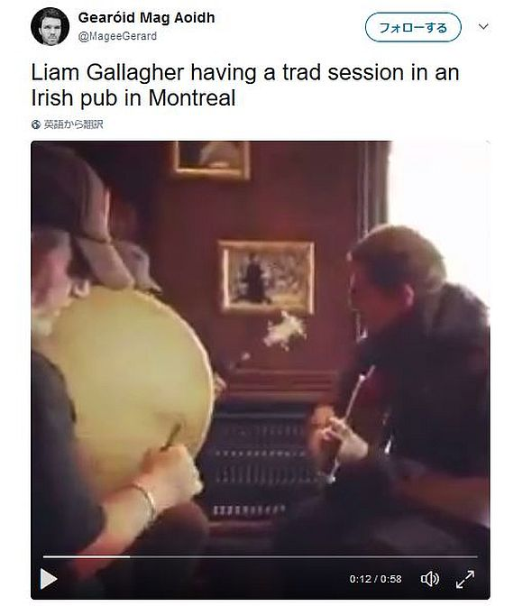 オアシスのリアム・ギャラガーが小さなパブに降臨! ローカルバンドとジャムセッション!!