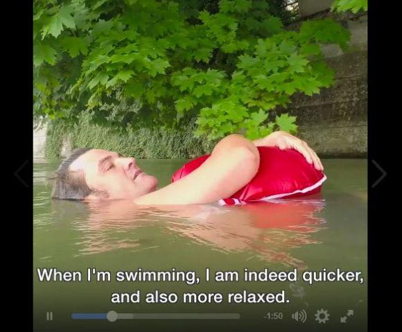 【動画あり】泳いで通勤するドイツのサラリーマンが話題に / コメント「リラックス出来て新しい出会いもある」
