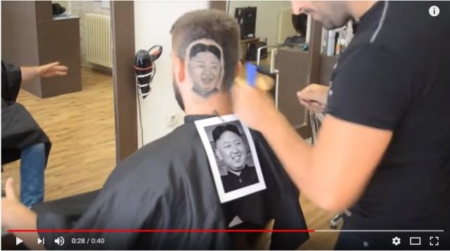 【動画あり】理髪師が「金正恩ヘア」を作ったらこうなった
