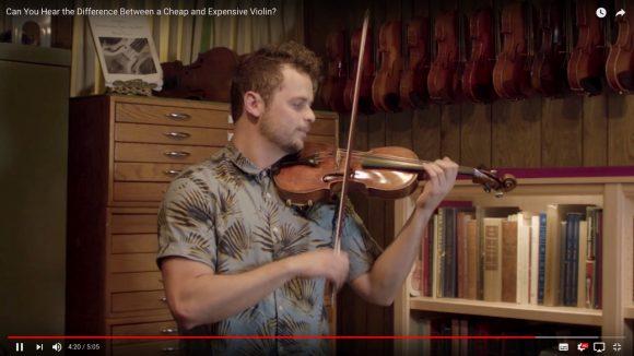 わかるかな? 6800円と31000000円のバイオリンを聴き比べられる動画がこちらです