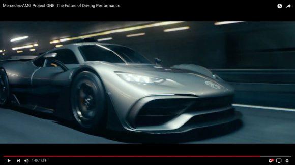 ベンツが3億円の怪物公道車「Mercedes−AMG Project ONE」を発表! SF映画のような超カッコ良いイメージ動画は一見の価値あり