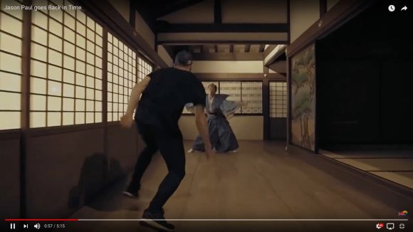 プロのパルクーラーが江戸時代にタイムスリップして武士や忍者から逃走! レッドブルの公開したアクション動画が大迫力で見ごたえ抜群!!