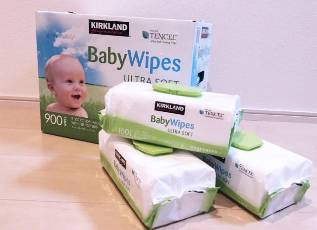 【パパママ必見】コストコの「赤ちゃん用おしりふき」がマジで神…! 1回につき1枚でたいていOK!! 床掃除にも大活躍でコスパ良しな件