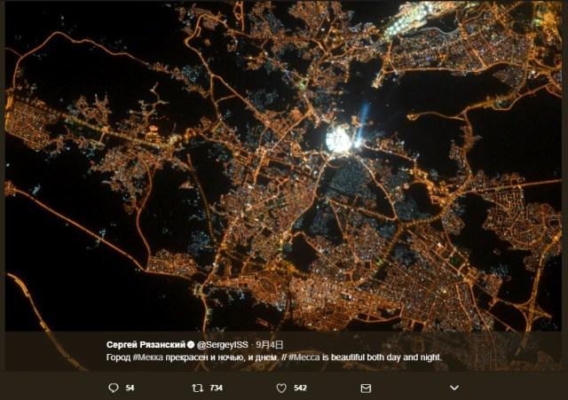 宇宙から見たサウジアラビアの都市「メッカ」の夜景にセーブポイントが! 調べてみた結果 → ガチでセーブポイントだった