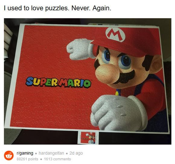 【難易度MAX】スーパーマリオのジグソーパズルがヤバい! 1000ピースのほとんどが同系色で激ムズと話題に