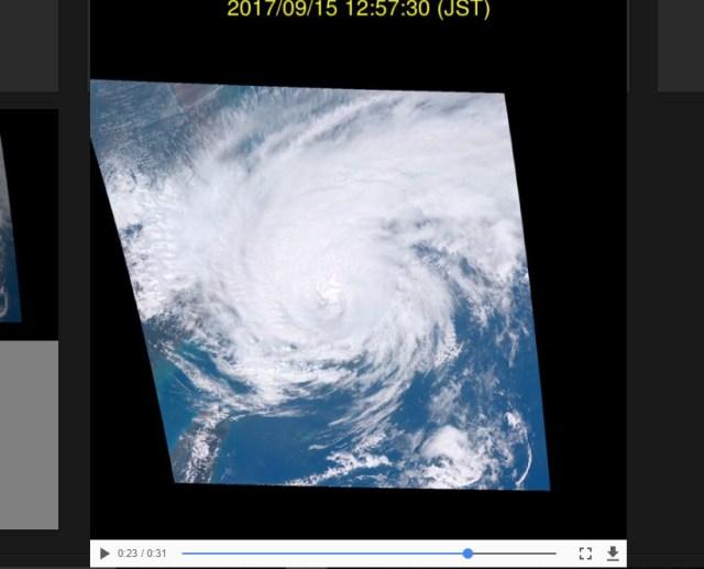 【動画】台風18号を宇宙から「リアルタイム配信」するサイトが凄い / 日本がアイスクリーム工場みたいになってるゥゥゥウウウ!!