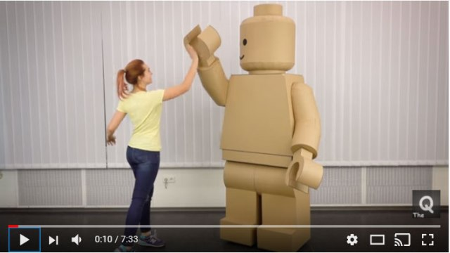 【作業動画あり】ハロウィンのコスプレにどう? ダンボール製「レゴ人形」が素敵すぎ / 公式かと思うレベルのクオリティ