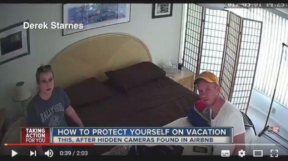 【盗撮事件】民泊に宿泊したカップルがベッドに向けられた「隠しカメラ」を発見 → 宿主は逮捕