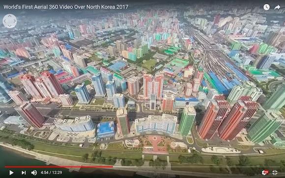 実を言うと北朝鮮は栄えていた!? 上空から平壌を撮影した360度映像がまさかの光景、めっちゃカラフル