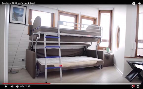 すさまじく便利そうな「ソファ2段ベッド」が話題に