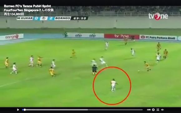 【動画あり】人間の能力を限界突破したスピードで走るサッカー選手が話題