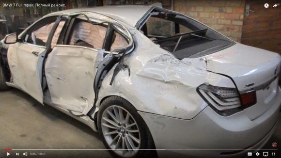 これぞ職人技! ボッコボコのBMWを新車同然に直すロシアの自動車修理工がスゴい!!