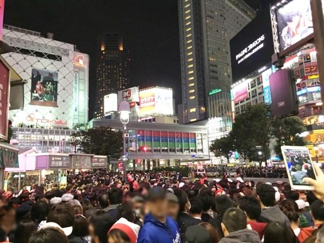 【衝撃レポ】ハロウィン当日の渋谷、とんでもないことになる