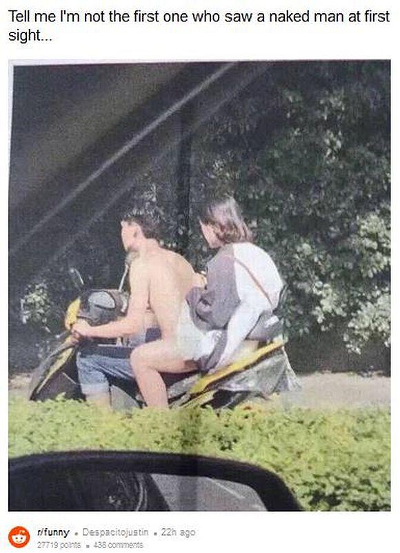 全裸で公道を疾走するライダーがいるぞ!!  …と錯覚して「思わず三度見」する画像