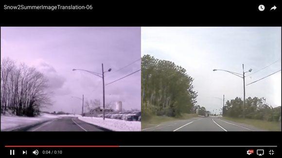 AIの作り出す映像がマジすげぇ! 冬の風景から作った夏の風景が違和感ゼロ