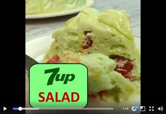【斬新】「セブンアップを使ったサラダ」が話題 / ネット民からの評価はアレだがテーブル映えしそう! レシピもあるよ!!