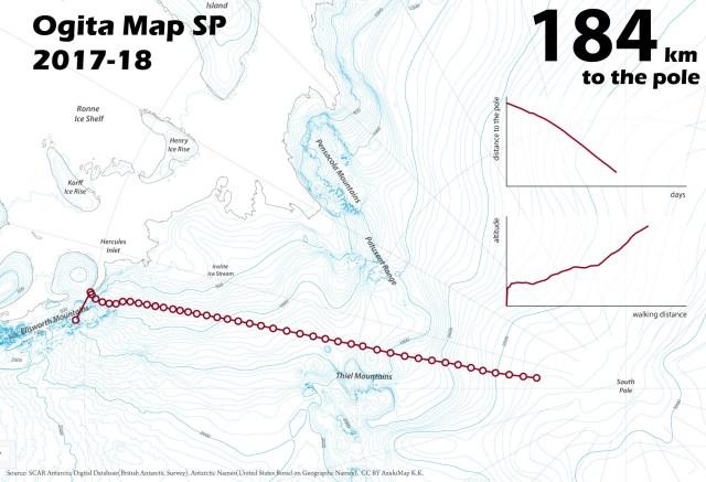 【南極冒険43日目】積雪に足を取られて疲れをにじます / おまけに最悪の通信状況