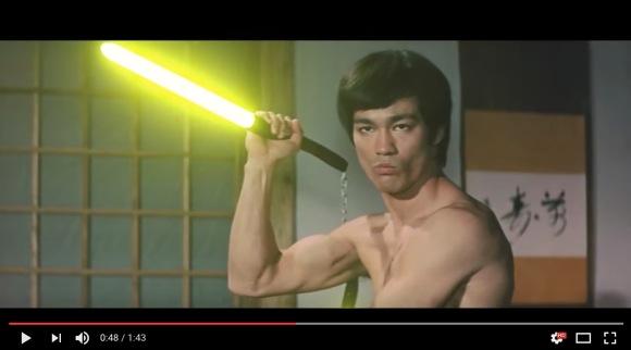 ブルース・リーがライトセーバーで戦うとこうなる