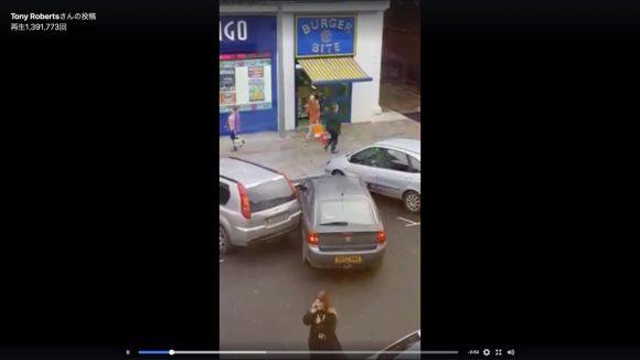 何やってんだオイ… メッチャ運転のヘタなドライバーが駐車場で当て逃げしていく動画が海外で話題