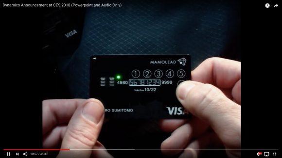世界初! 三井住友カードが「ロック機能の付いたクレジットカード」を年内に展開 / LEDランプ + 液晶 + タッチボタン搭載で高いセキュリティー性能