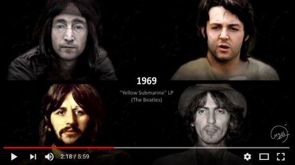 ビートルズのメンバーの年の重ね方が「その時代の楽曲」と共に一発で分かる動画が超興味深い!