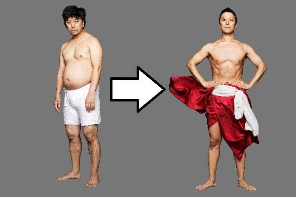 【衝撃ダイエット】市川海老蔵一門の歌舞伎役者・市川九團次の劇的ビフォーアフター / ライザップがコミットしすぎて-24.8kgを達成