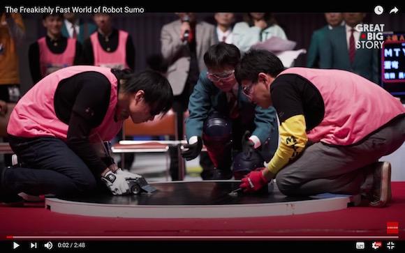 日本の「ロボット相撲」が海外から熱視線 / 特集したドキュメンタリー映像が驚きの連続で興味深い