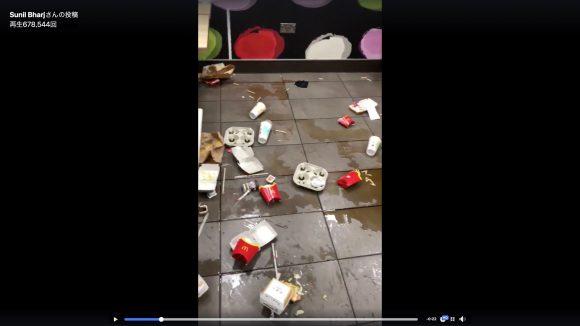 これは酷い…「汚すぎるマクドナルド」が激写される