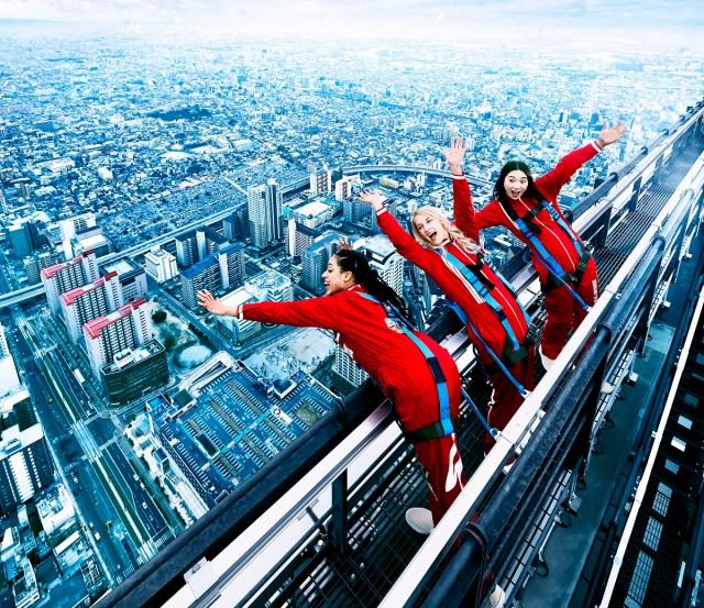 【狂気】「あべのハルカス」最頂部にオープンするアトラクションがシンプルにヤバイ! 地上300メートルを命綱をつけて歩く『EDGE THE HARUKAS』