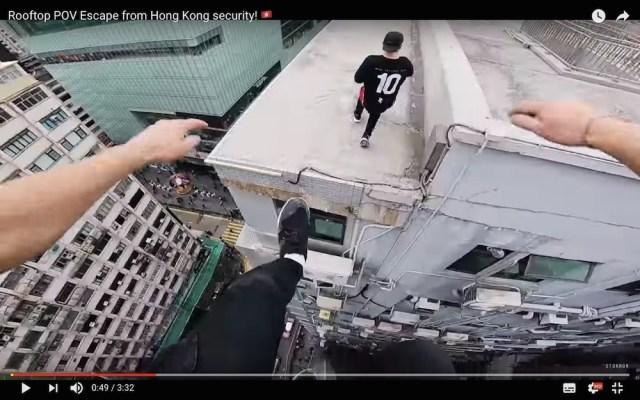 【閲覧注意】これが三途の川か…超高層ビルの屋上をパルクールで疾走する動画が恐ろしすぎて失神しそう