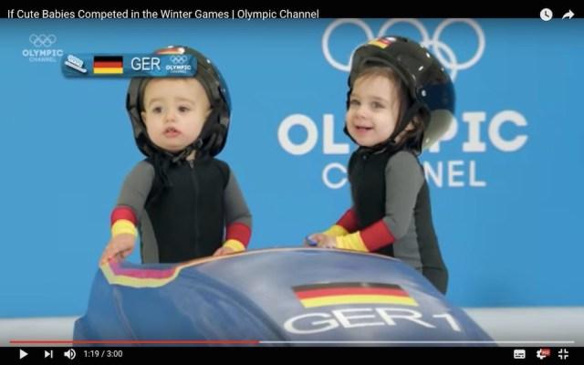 もし赤ちゃんのオリンピックがあったら…っていう動画がカワイすぎ! 雪上の競技に挑む姿にネット民はメロメロ