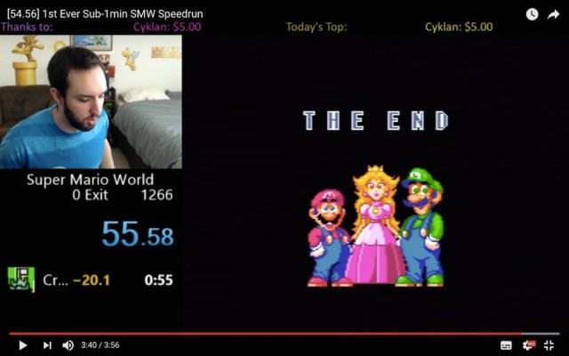 たった54秒で『スーパーマリオワールド』をクリア! 不可能を可能にした裏ワザ動画がこちらです