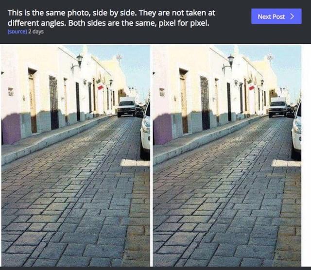 【目の錯覚】同じはずなのに違うように見えてしまう不思議な2枚の写真が話題沸騰中 / あなたの脳は見抜ける?