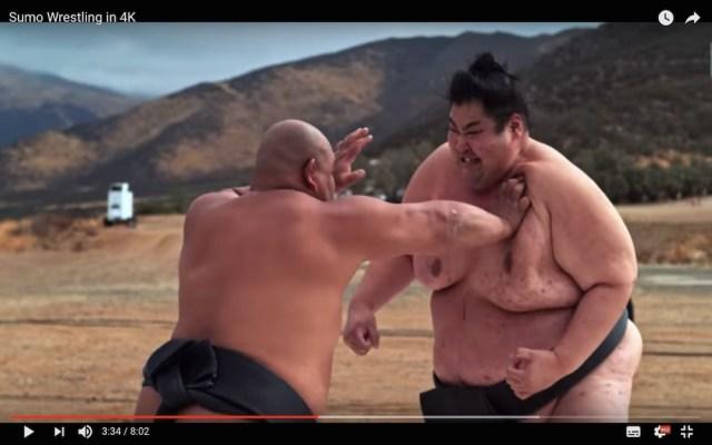 力士がぶつかり合ったらどれほどの衝撃が生まれるのか / 4Kスローで撮った相撲動画がスゴい