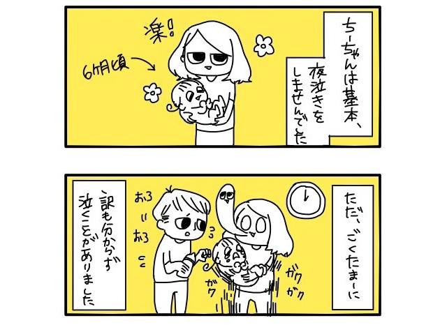 【漫画】「赤ちゃんが突然の夜泣きをする理由と対処法」が超タメになると話題 / 困ってるパパとママはコレを試してみよう!