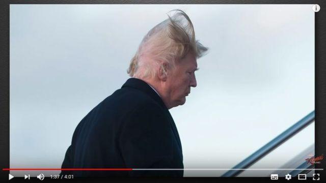 トランプ大統領の髪が突風で煽られて『ハゲ部分が露出する』事態に! 美容師のコメント「ポマードが5缶はいるな」など