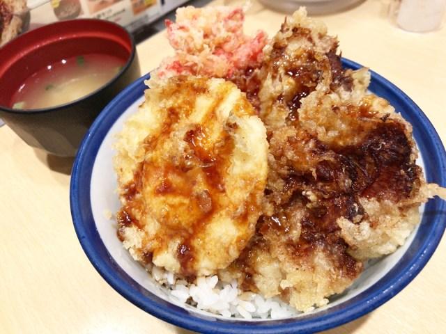 【朗報】「てんや」が久々に意味不明な新メニュー『チャーシュー三兄弟天丼』を発売! チャーシューをなぜか天ぷらにするという暴挙に出る!!