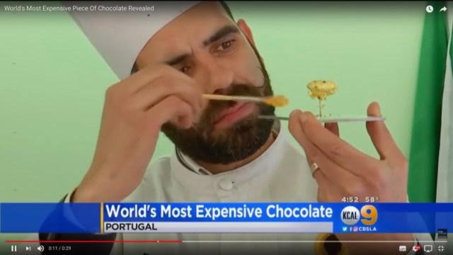 こちらが「ひと粒100万円」の世界一高いチョコレートになります