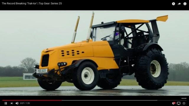 【動画】爆速仕様にカスタムされた「農業用トラクター」が時速140キロを出して世界記録を達成!